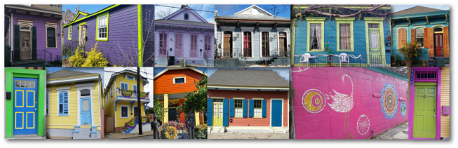 A collection of colorful homes!
