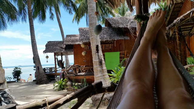9 Helpful Lessons for Visiting Thailand #7 - Where to Stay for the Full Moon Party. Relaxing in my hammock outside the bungalow