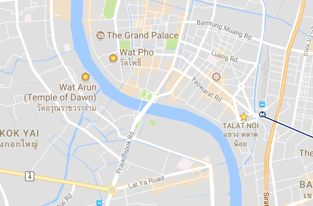 9 Helpful Lessons for Visiting Thailand #9 - Star the places you want to visit on google maps when you are on wifi